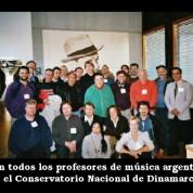 Con los profesores de música argentina en el Conservatorio Nacional de Música de Dinamarca