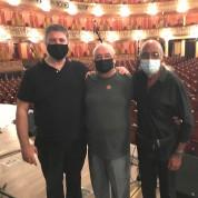 Con el Zurdo Roizner y Juan Pablo Navarro en el Teatro Colón